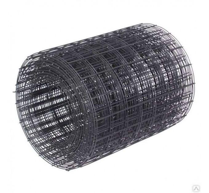 Сетка сварная чёрная 50x50x1,6мм, рулон 0,35x50м