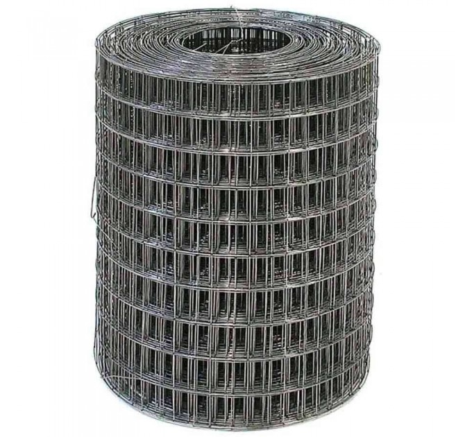 Сетка сварная чёрная 50x50x1,6мм, рулон 0,5x50м
