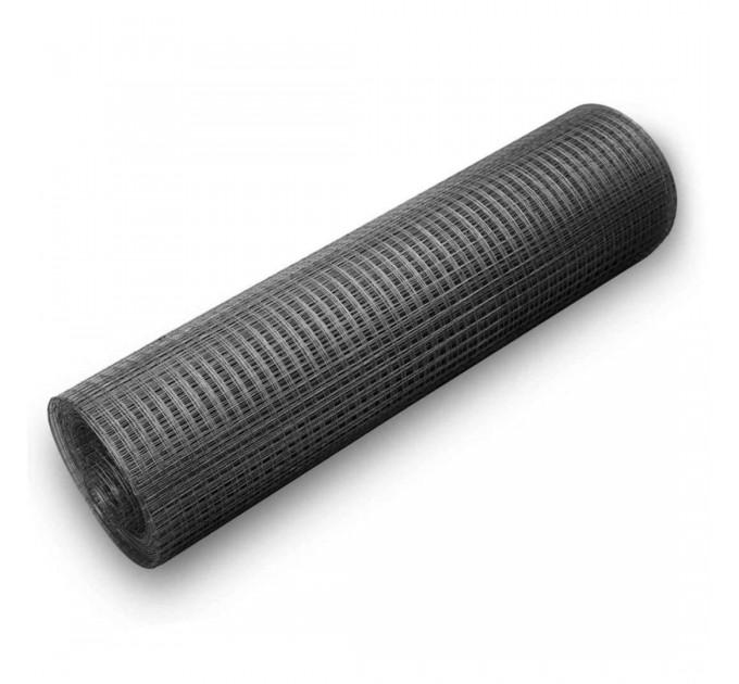 Сетка сварная черная 50x50x1,6мм, рулон 1,5x20м