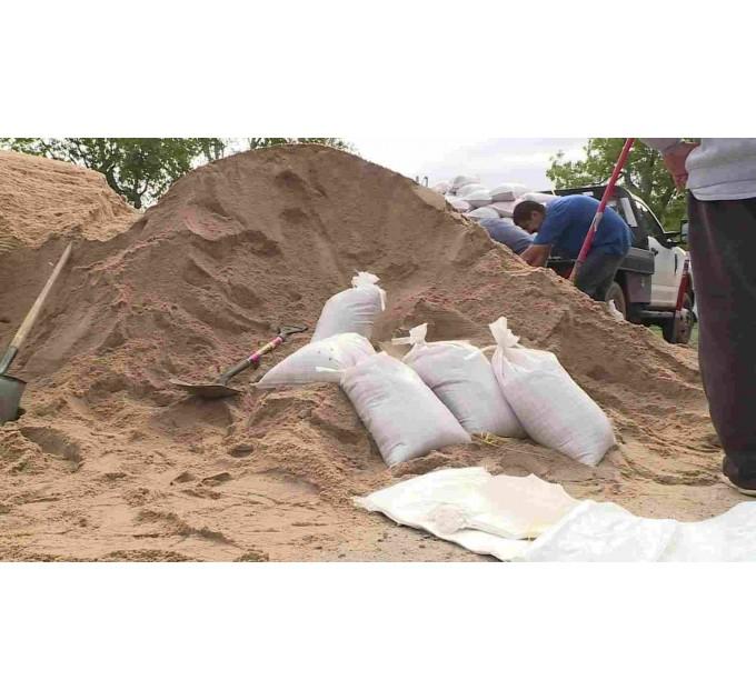 Песок строительный в мешках речной 25кг