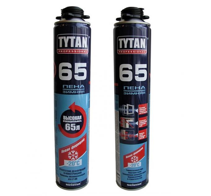 Пена монтажная Титан профессиональная 65л