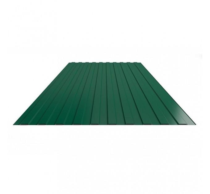Профнастил лист С-20 цвет зеленый 1050х2000х0,35мм