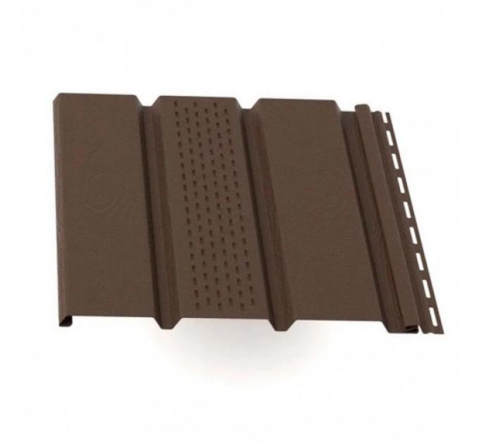 Софит Grand Line Т4 Лайт комбинированный 3000х303 мм коричневый