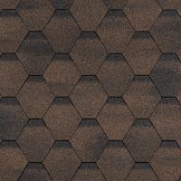 Гибкая черепица Шинглас, серия Финская, Сонато цвет коричневый