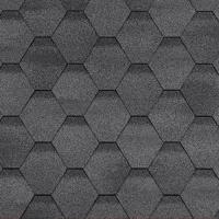 Гибкая черепица Шинглас, серия Финская, Сонато цвет серый
