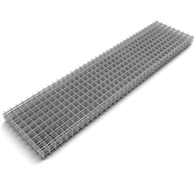 Сетка сварная оцинк кладочная 0,5x2м ячейка 60x60x3мм