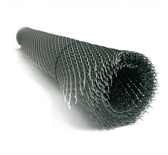 Сетка штукатурная ЦПВС 40х20х1мм черная 1х6м
