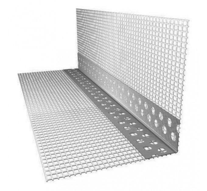 Профиль ПВХ углозащитный с сеткой (150x150) 2,5м