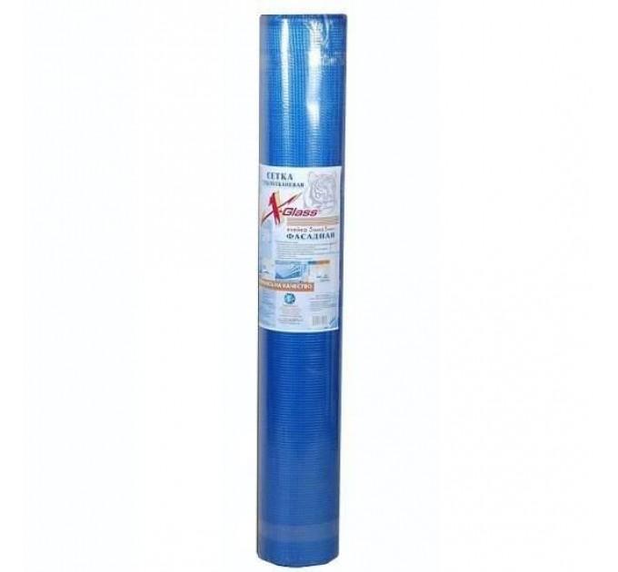 Сетка для фасадных работ 5х5мм 160г/м² синяя (20м²)