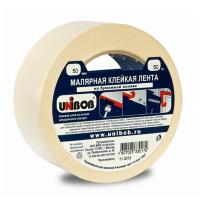 Скотч малярный бумажный UNIBOB 50мм/30м