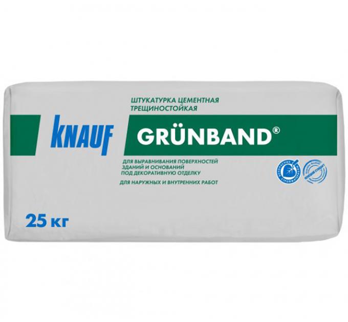 Кнауф Грюнбанд цементная штукатурка 25кг