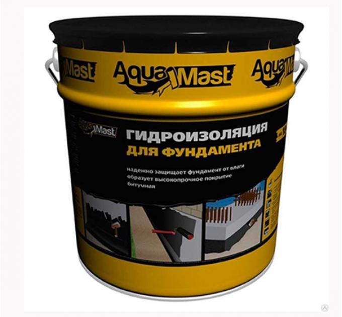 Технониколь Аквамаст Мастика для гидроизоляции фундамента 18кг