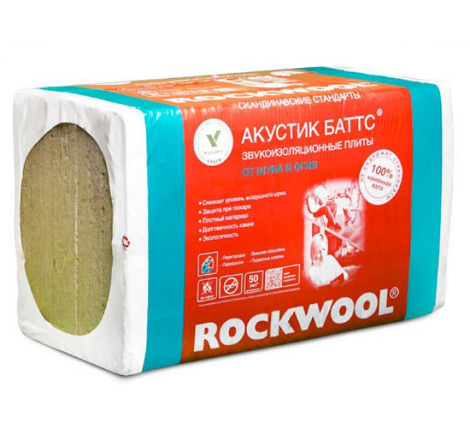 Роквул Акустик Баттс Звукоизоляция 1000x600x100мм (3м²)