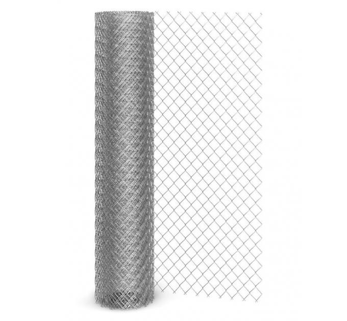 Сетка рабица оцинкованная рулон 2x10м яч: 55x55x1,4мм
