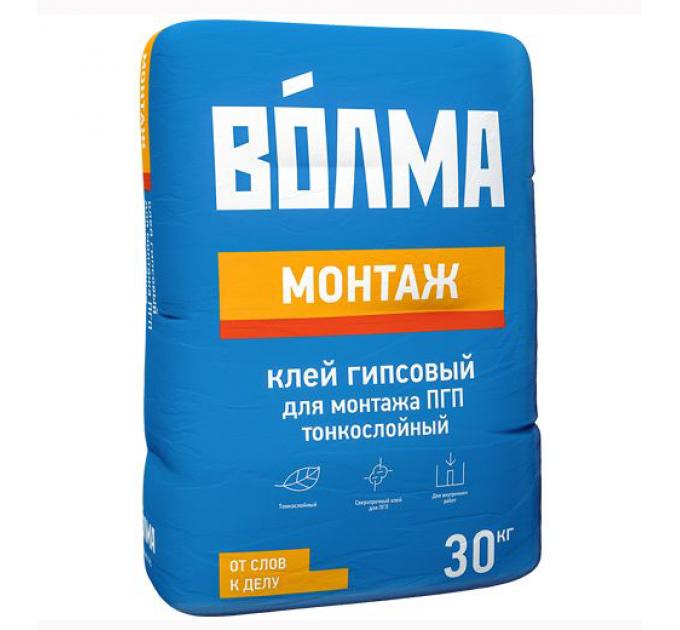 Волма Монтаж гипсовый клей для ПГП 30кг